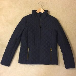 J.Crew Factory Navy Blue Quilted Jacket